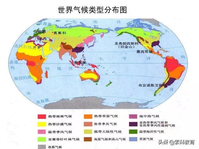 高中地理:最全的气候类型及判读