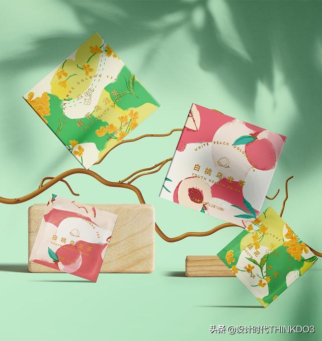 两款清新时尚风格的花茶包装设计,简直不要太美(图24)