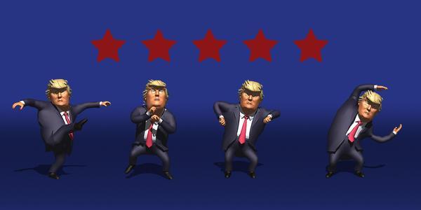 """快来看特朗普""""扭屁股""""!结束复工首次演讲后,特朗普现场跳热舞"""