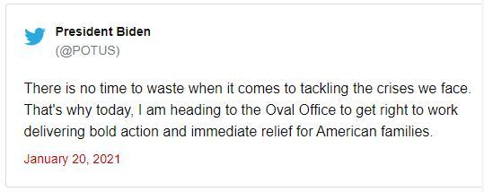 拜登:马上为美国家庭出示救助