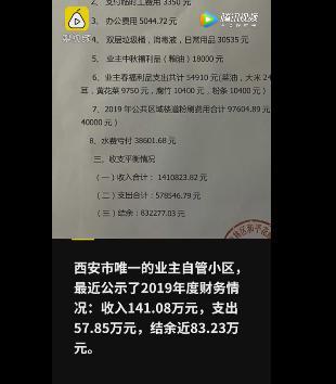 西安业主自管小区一年盈利83万 总收入141万【www.smxdc.net】
