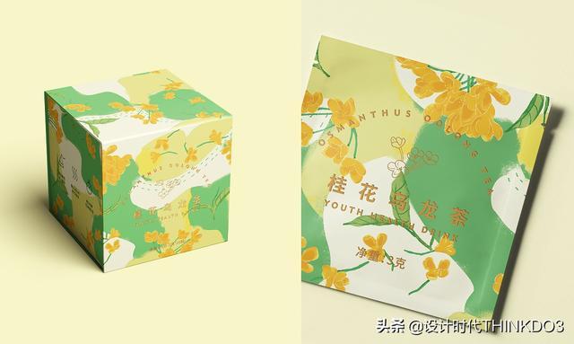 两款清新时尚风格的花茶包装设计,简直不要太美(图12)
