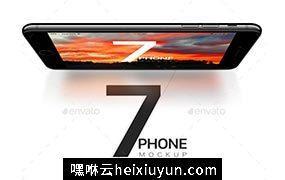 不同角度iPhone7模型iPhone 7 and 7 Plus Vector Mockups