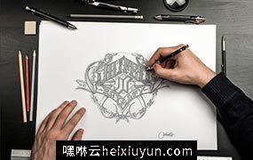 素描/手绘PS动作Sketch / Hand Drawn Mockup Set #388072