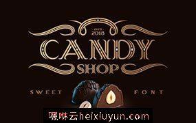 梦幻魔幻字体 Candy Shop typeface #3120736
