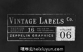经典logo设计模板 Vintage Labels Logos  #84555