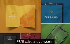 时尚高端简约逼真质感的品牌设计 minimalistic-branding-mockups #331782