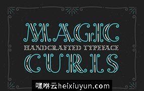 魔幻卷曲装饰的字体 Decorative font Magic Curls #793170