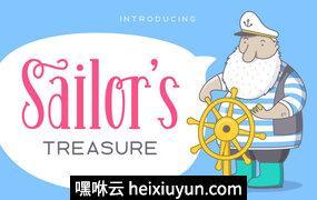 俏皮手写字体Sailor-#039;s Treasure – Font Duo #1162647