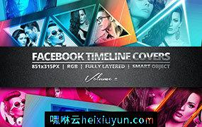 封面PSD模板设计素材Facebook Covers Vol.2