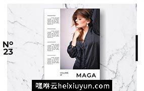时尚生活方式摄影杂志图册设计模板 Magazine Template Vol. 09 3821164