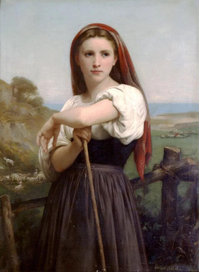1868年 布面油彩肖像 年轻的牧羊人