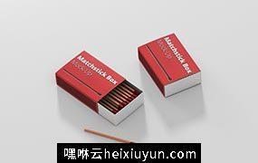 火柴盒包装设计样机match-box mock-up #351822