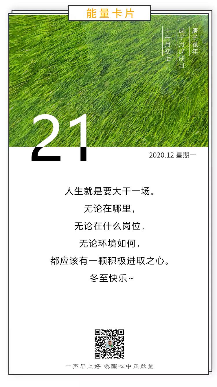 冬至早安图片正能量阳光带文字,12月21日日签图片