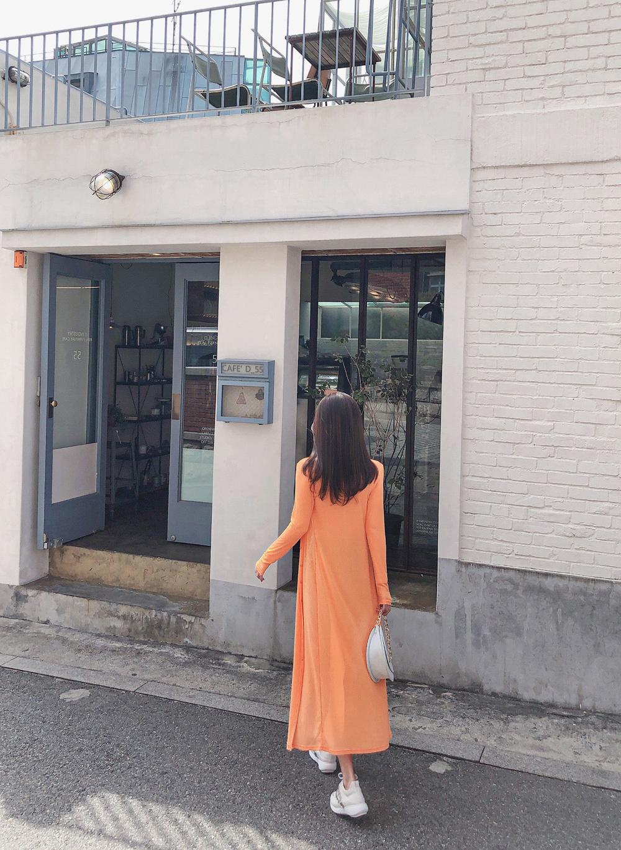 孙允珠丨炎夏冰凌甜橙薄荷双色小开衫